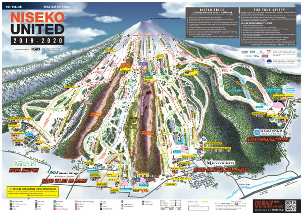 Hanazono Ski Resort Piste Map