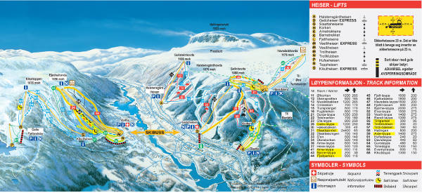 Geilo Ski Resort Piste Map