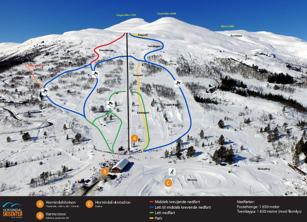 Horindal Ski Resort Piste Map