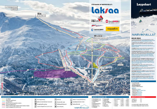 Narvik Ski Resort Piste Map