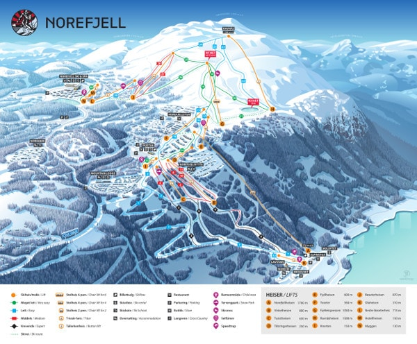 Norefjell Ski Resort Piste Map