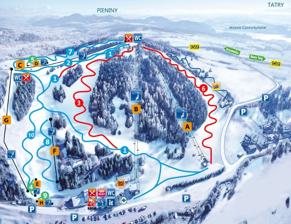 Czorsztyn Ski Resort Piste Map