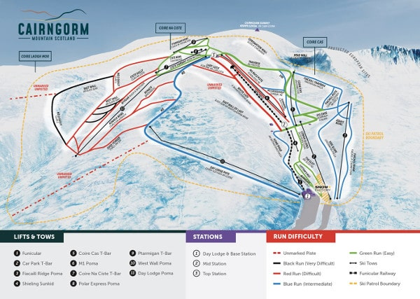 Cairngorm Ski Resort Piste Map