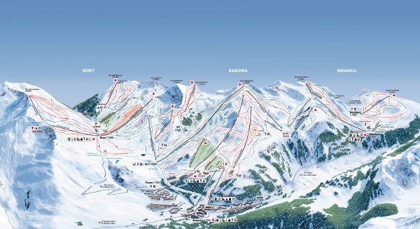 Baqueira Beret Ski Resort Piste Map