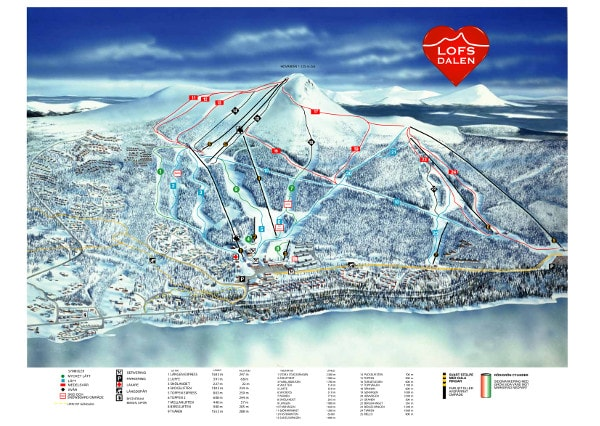 Lofsdalen Piste Map