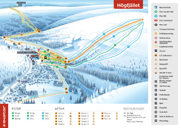 Salen Högfjället Piste Map