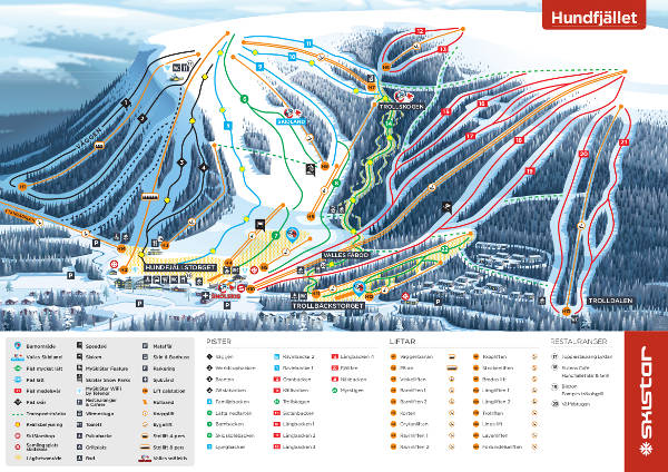 Salen Hundfjallet Piste Map