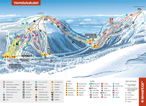 Vemdalen Piste Map