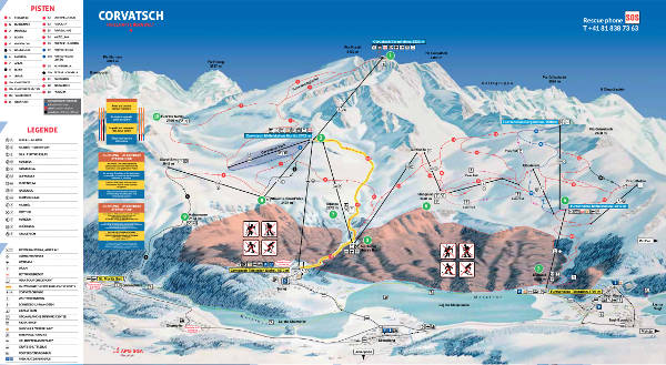Corvatsch Ski Resort Piste Map