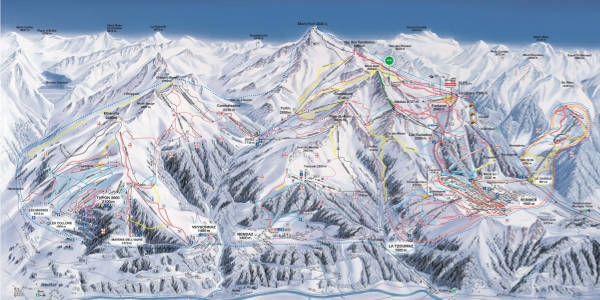 Verbier, 4 Vallees Ski Resort Piste Map