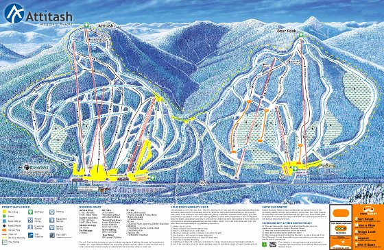 Attitash Mountain Ski Resort Piste Map