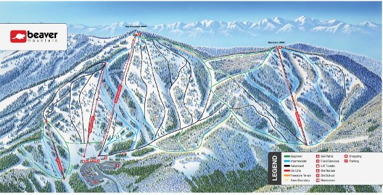 Beaver Mountain Ski Resort Piste Map