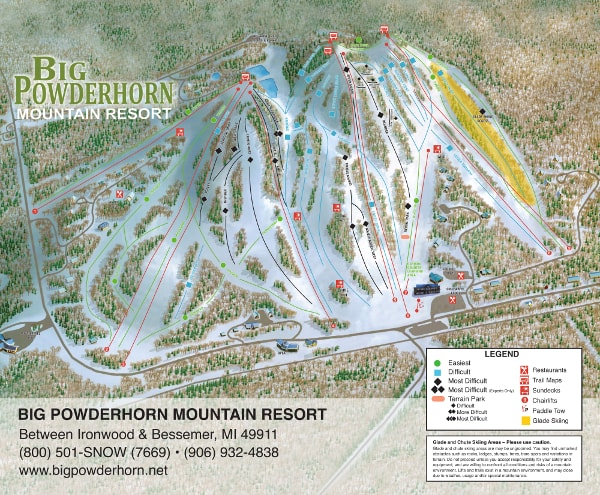 Big Powderhorn, Colorado Ski Resort Piste Map
