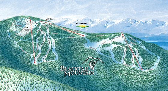 Blacktail Mountain Ski Resort Piste Map