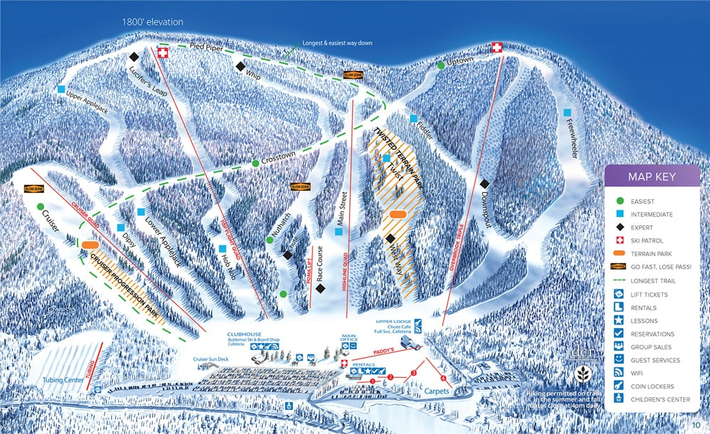 Butternut Piste Map