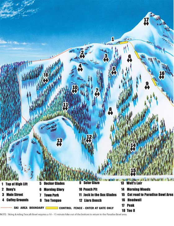 Crested Butte Ski Resort Piste Map