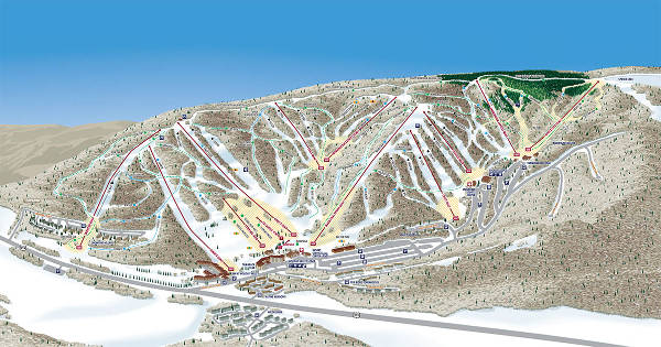 Holiday Valley Ski Resort Piste Map