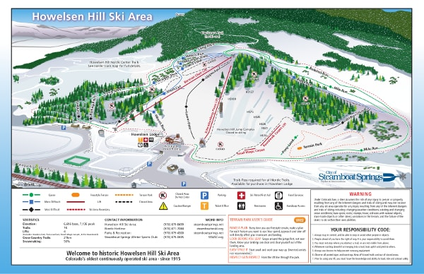 Howelsen, Colorado Ski Resort Piste Map