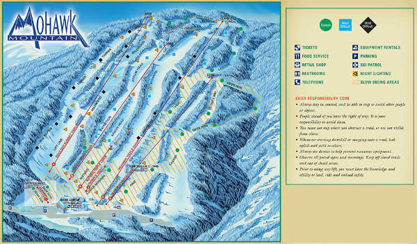 Mohawk Mountain Ski Resort Piste Map