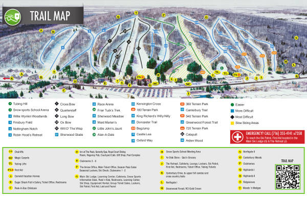 Peek n Peak Ski Resort Piste Map