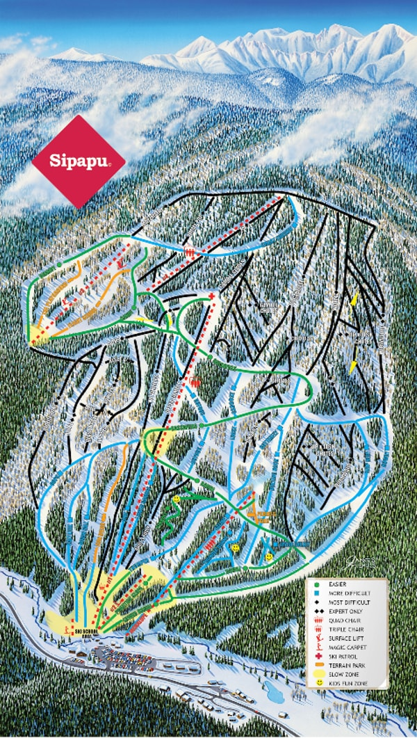 Sipapu Piste Map