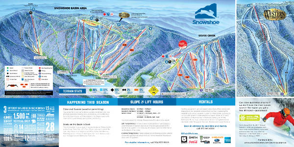 Snowshoe Ski Resort Piste Map