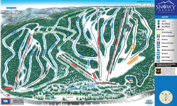 Snowy Range Ski Resort Piste Map