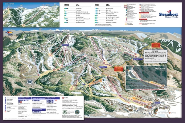 Steamboat Ski Resort Piste Map
