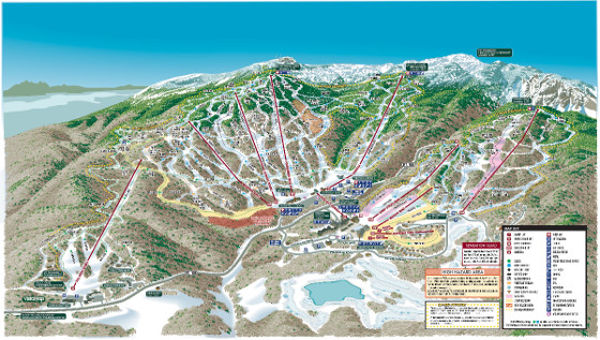 Stowe Ski Resort Piste Map