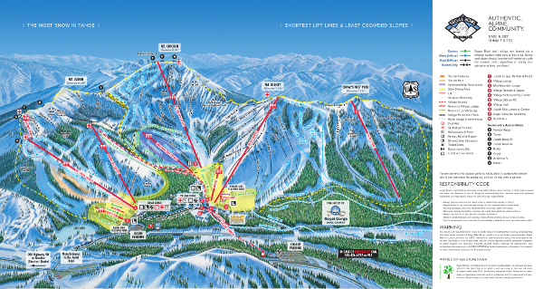 Sugar Bowl Ski Resort Piste Map