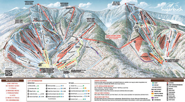 Sugarbush Ski Resort Piste Map