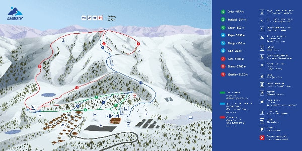 <Mount Amirsoy Piste Map